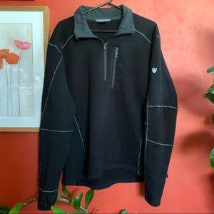 Men's Kuhl XL black fleece quarter zip pullover